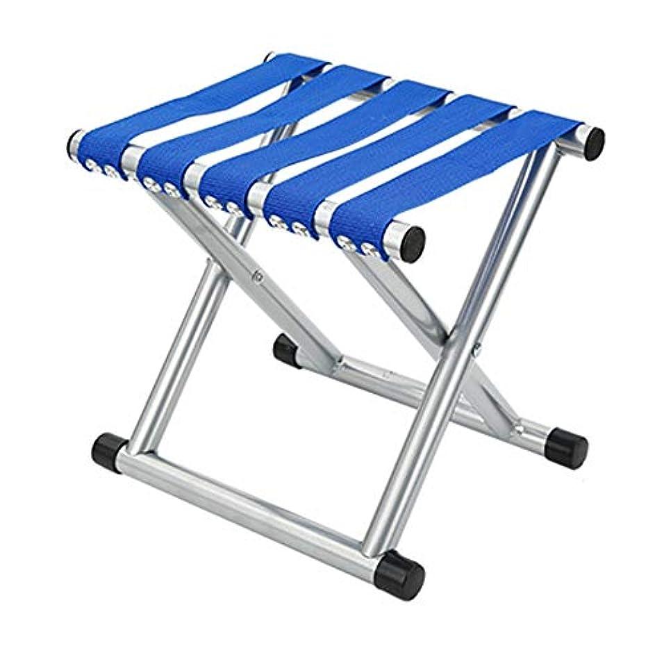 閃光ポジティブ迅速アウトドア折りたたみ椅子 折りたたみ通気性メッシュアルミキャンプ釣りガーデンチェアポータブルディレクターズチェア (色 : 青, サイズ : S)
