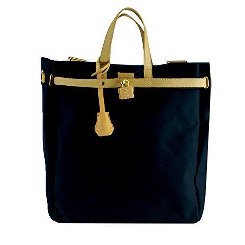 mistura デイバッグ トートバッグ 2way A4サイズが入る ネイビー 紺 リュック イニシャルバッグ イニシャルS