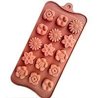 5種類のお花一度に15個作れる! シリコンモールド チョコレート型やバスボム等に ハンドメイド シリコンモールド シュガークラフト 粘土 押し型・抜き型 レジン型 粘土型 キャンドル型 石鹸型 シリコン型 プラ板 Comehome mama's cafe レシピブログ スイーツ クックパッド haru-mi バレンタイン オルゴナイト レインボークレヨン マーブルクレヨン