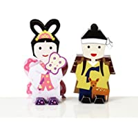 Korea Character Papertoy - A fairy and a Woodman Set