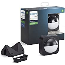 Philips Hue Dusk-to-Dawn Outdoor Motion Sensor for Smart Home, Wireless and Easy to Install (Hue Hub Required, for Use with Philips Hue Smart Lights), Multicolour (929001975803)