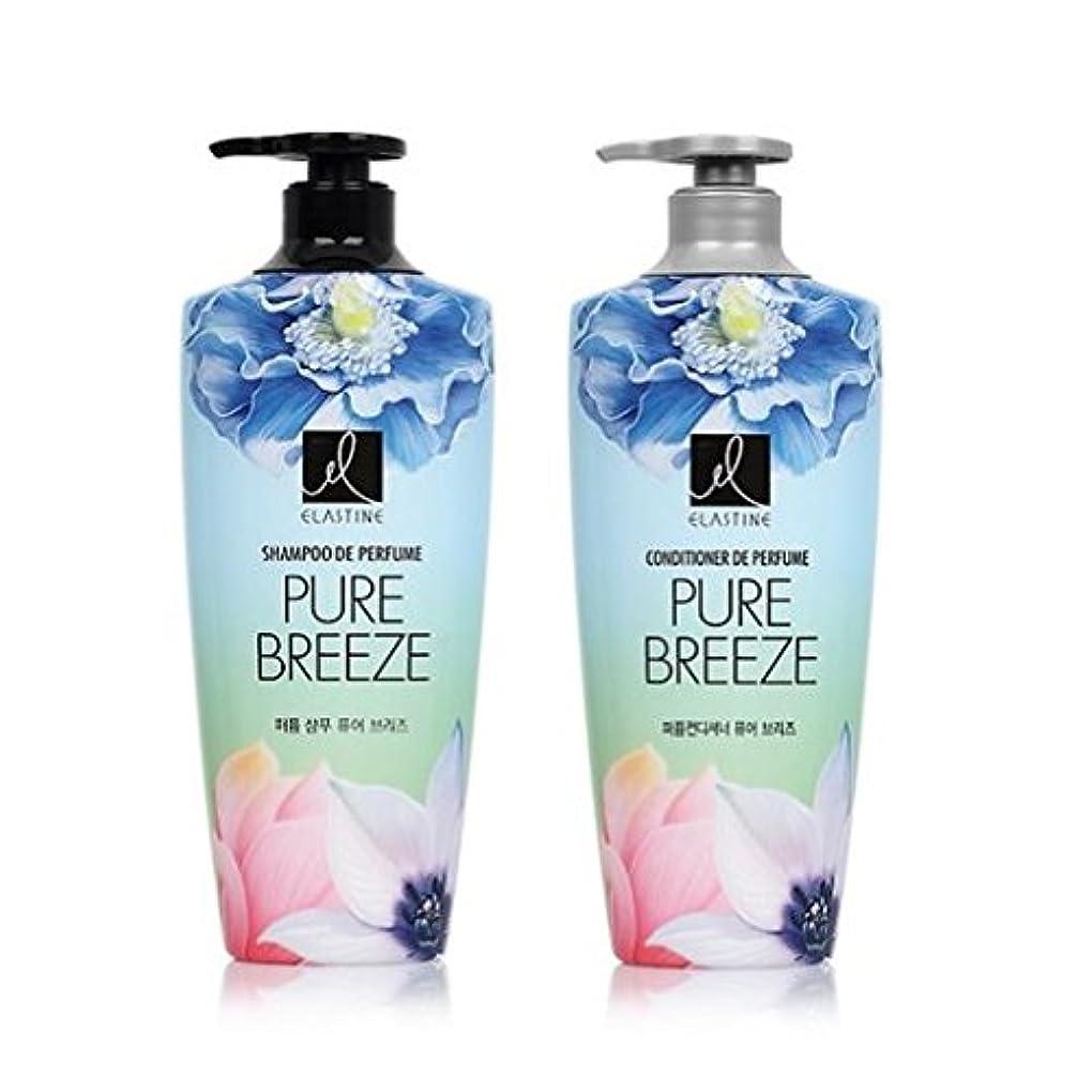 招待配列カプセル[エラスティン] Elastine Perfume PURE BREEZE シャンプー600ml x 2本, コンディショナー600ml x 1本 / パフュームピュアブリーズ [並行輸入品]