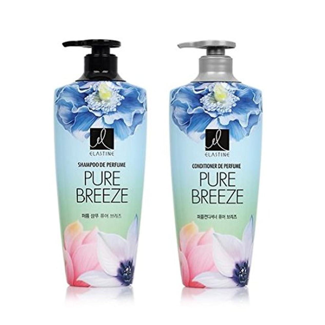 代わりにを立てる技術者コマンド[エラスティン] Elastine Perfume PURE BREEZE シャンプー600ml x 2本, コンディショナー600ml x 1本 / パフュームピュアブリーズ [並行輸入品]