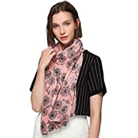 SEW ELEGANT NEW Ladies Women's Dandelion Taraxacum Print Cotton Scarf