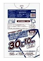 神戸市指定袋家庭用 缶・びん・ペットボトル用 30L0.025mm厚 10枚 透明