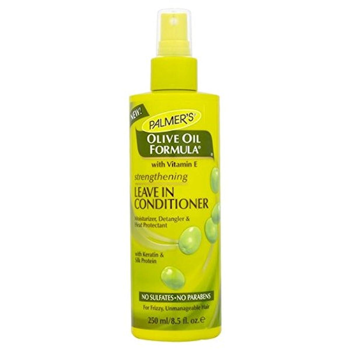 薬局ぞっとするような文房具リーブインコンディショナー250を強化パーマーのオリーブオイル式 x2 - Palmer's Olive Oil Formula Strengthening Leave-in Conditioner 250ml (Pack...