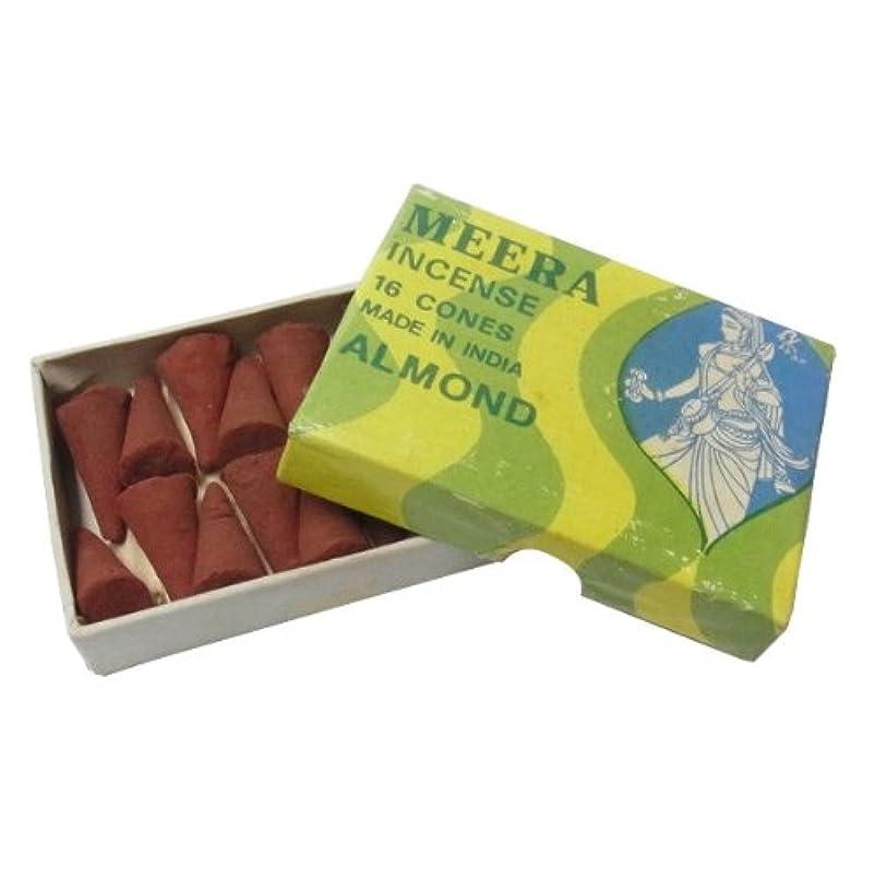 格差受動的進化するアーモンドのお香(MEERA) コーン型お香 インド香