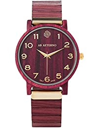 [アバテルノ]AB AETERNO 腕時計 FENIX  COLLECTION ウッド PURPLE 35mm 9825052 レディース 【正規輸入品】