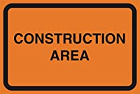 Construction領域オレンジRoad Street Driving作業ゾーン安全Notice警告標識商業プラスチックサイン Single Sign