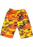 (ディーオーピー)DOP for Dancers スウェットショートパンツ カーゴ 迷彩柄 オレンジ XS メンズ レディース b系 ストリート系 hiphop ダンスパンツ 衣装