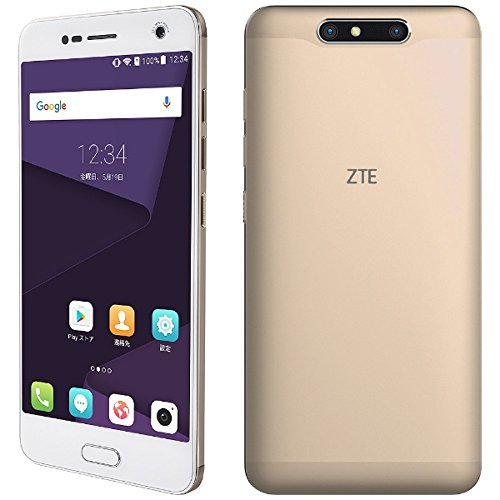 ZTE Blade V8 SIMフリースマートフォン シャンパンゴールド 【日本正規代理店品】 BLADEV8SGO