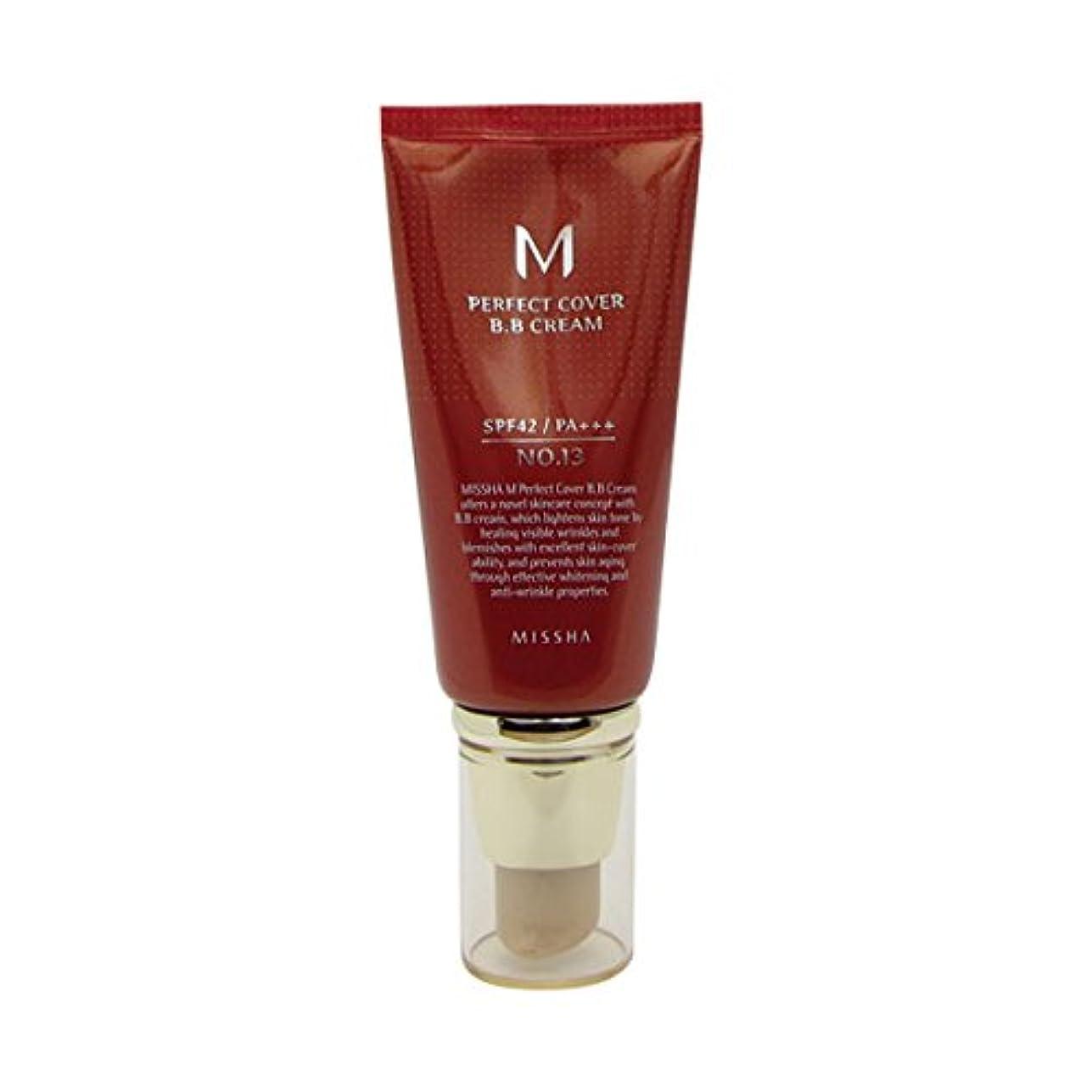 パッケージバルセロナデッドロックMissha M Perfect Cover Bb Cream Spf42/pa+++ No.13 Bright Beige 50ml [並行輸入品]