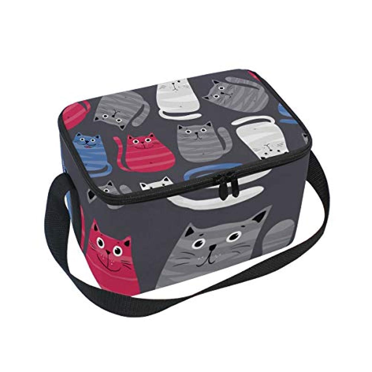 代数的曲正確クーラーバッグ クーラーボックス ソフトクーラ 冷蔵ボックス キャンプ用品 猫柄 可愛い 保冷保温 大容量 肩掛け お花見 アウトドア