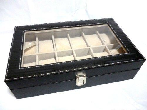 ウォッチコレクションケース 腕時計12本収納 / ブラックレ...
