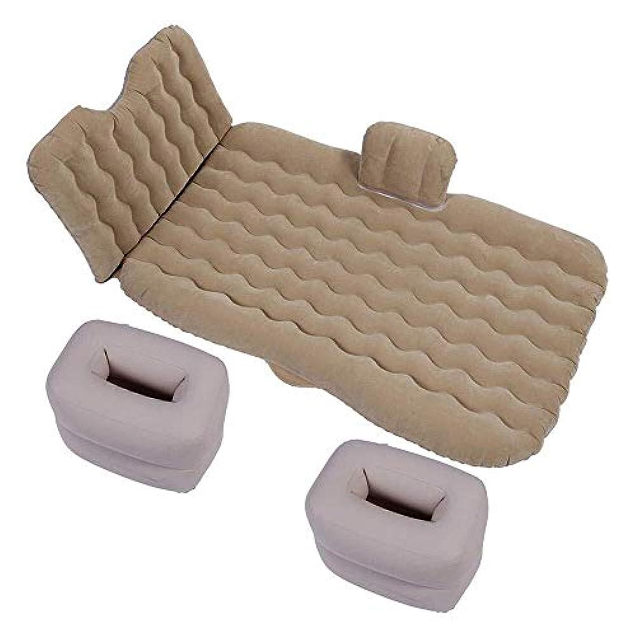 ホステス反発する証拠ZXF 車のベッドの後部座席キャンプ旅行の黒のための膨脹可能なエアマットレス 暖かくて快適です