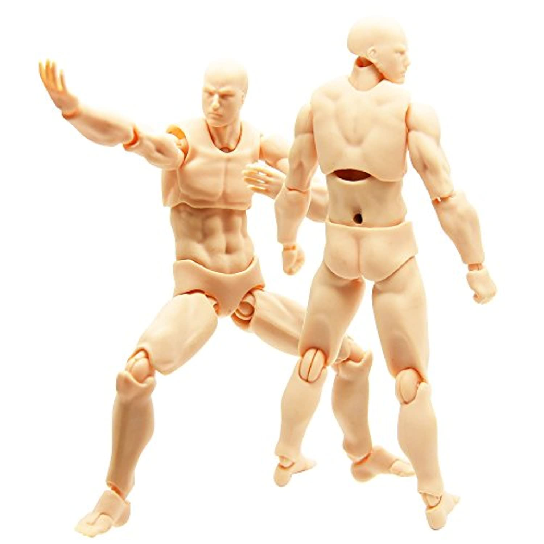 ING STYLE 高密度な動きを再現! 1/14スケール 可動フィギュア PVC&ABS製 (男性)