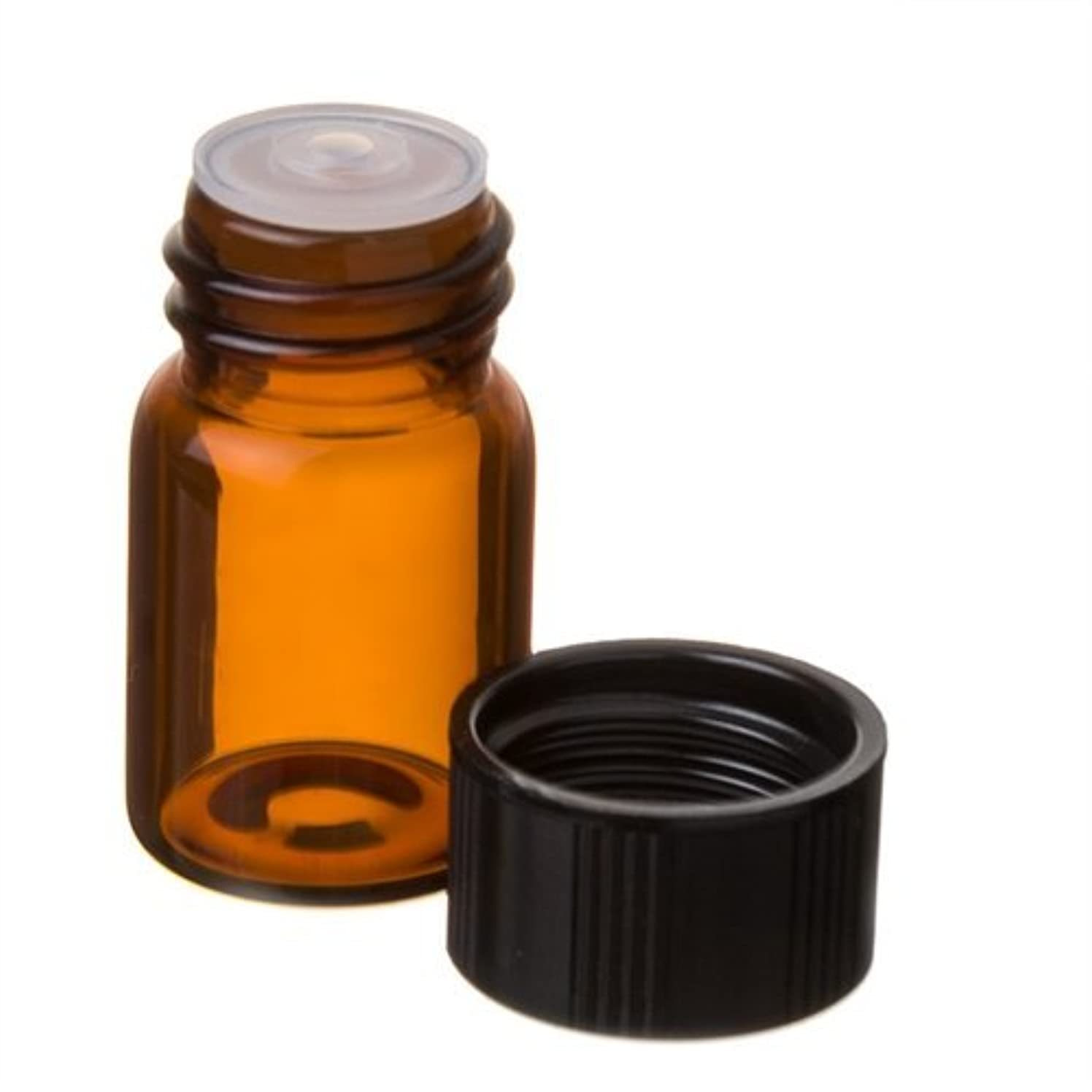 ピンク限られたアクセント5/8 Dram AMBER Glass Vial with Dropper Top for Essential Oils - Screw Cap w/Orifice Reducer - Pack of 12 Bulk...
