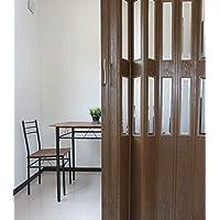 窓付パネルドア Lumie ルミエ 幅100cm×高さ205cm 木目ダークオーク