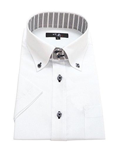 北斎(ホクサイ) 襟高半袖ワイシャツ メンズ クールビズ