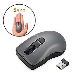 エレコム ワイヤレスマウス 3ボタン チルトホイール Micro Grast Switch ビット Sサイズ ブラック M-FBG3DBBK