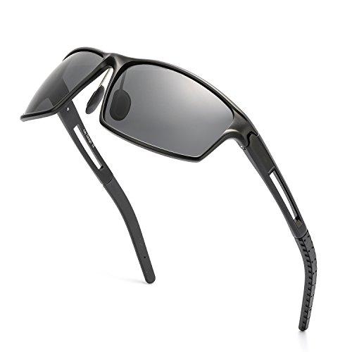 LVIOE スポーツサングラス メンズ 大きい偏光レンズ 超軽量 UV400 紫外線カット 自転車/釣り/野球/テニ...