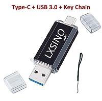 LXSINO 64GB USBメモリ 3.0 フラッシュドライブ OTG Type Cメモリ/USB Cメモリ3.1/ USB 3.1 + USB 3.0 デュアルメモリ メモリースティック 高速データ転送