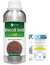 Broccoli Seed (Brassica oleracea var. italica)100% Natural Pure Carrier Oil 1000ml/33.8fl.oz.