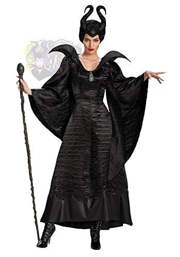 【Abz Company】 ディズニー ヴィランズ マレフィセント M サイズ 160 cm コスプレ 衣装 ヘッドセット ブローチ 付 コスチューム ハロウィン 洗礼式 眠れる森の美女 魔女 M