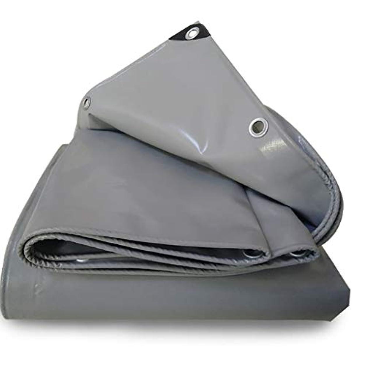葉を集めるブラケット咲くタープ 防水シートカバー付きアイレットプラスサイズ、日焼け止め防水シートカーテンコンパクトルーフスムース、グレー テント (Color : Gray, Size : 6×7M)