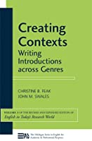 Creating Contexts: Writing Introductions Across Genres (English in Today's Research World)