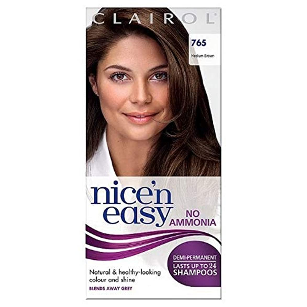 オーストラリア追加する幸福[Nice'n Easy] Nice'N簡単に何のアンモニアの染毛剤ませんミディアムブラウン765 - Nice'n Easy No Ammonia Hair Dye Medium Brown 765 [並行輸入品]
