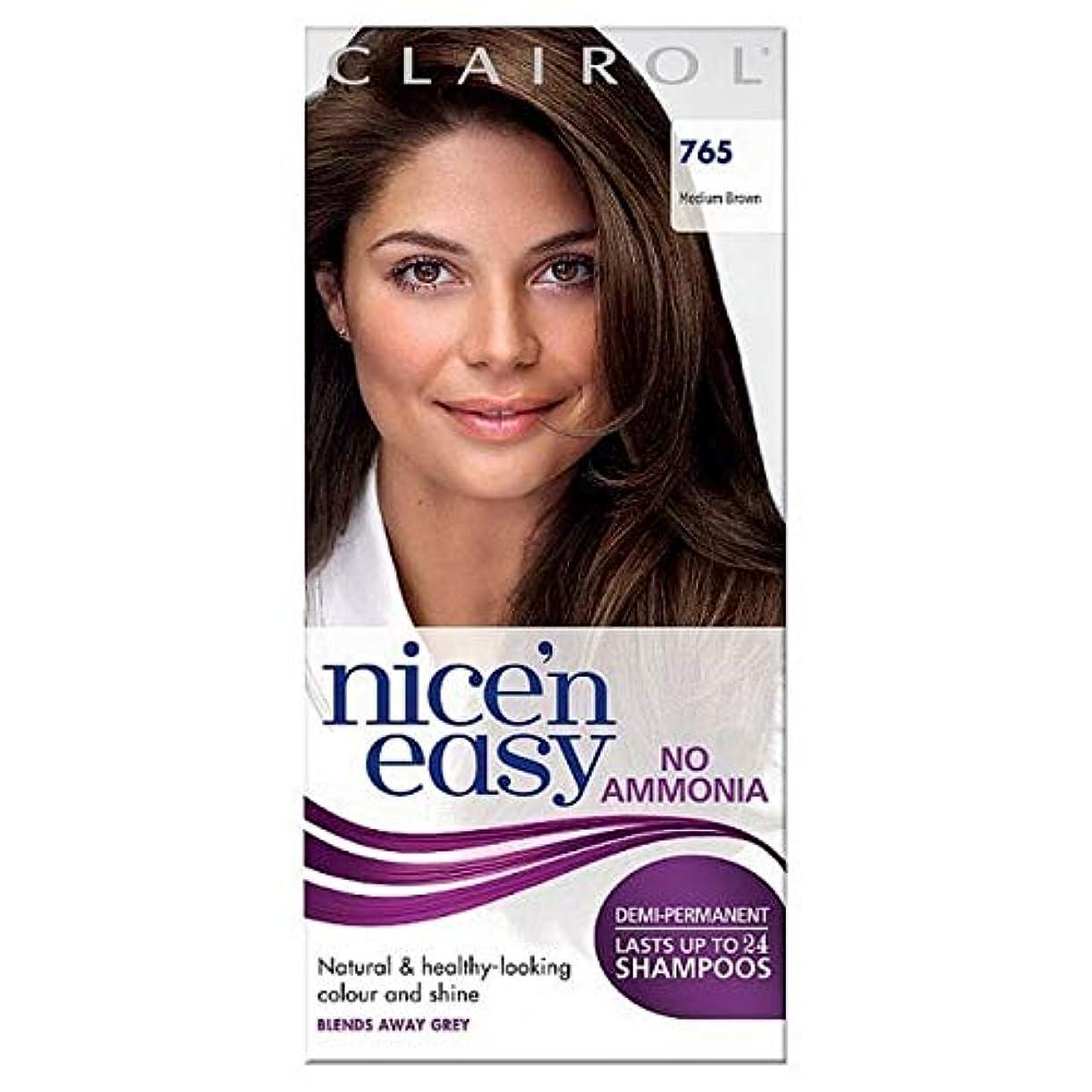 難破船微生物素晴らしき[Nice'n Easy] Nice'N簡単に何のアンモニアの染毛剤ませんミディアムブラウン765 - Nice'n Easy No Ammonia Hair Dye Medium Brown 765 [並行輸入品]