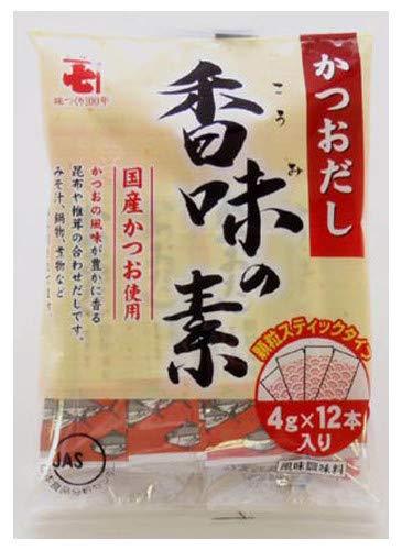 かね七 かつおだし 香味の素スティック (4gX12)X20袋