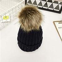 レディース冬の帽子 ヘアキャップ甘いかわいいニット帽子秋冬暖かい髪ボールヘアキャップ