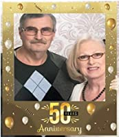 """Aahs Engraving""""50 Years Anniversary"""" Party Photo Frame Prop, 35 X 30 inches [並行輸入品]"""
