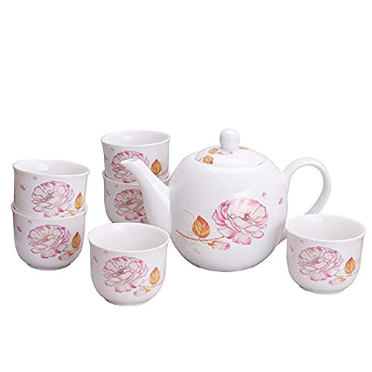 ちなみに広範囲に東磁器の茶は家によって家およびオフィスのコーヒーのための1つのティーポットの棚が付いている6 PCのティーカップそしてソーサーを含むイギリスの高貴なシリーズを、置きます