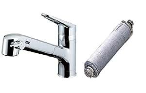 INAX 浄水器内蔵シングルレバー混合水栓 エコハンドル RJF-771Y+専用浄水カートリッジ1個付