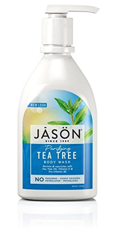 サンダル変化バレーボールJason Natural Products Tea Tree Satin Shower Body Wash 887 ml (並行輸入品)