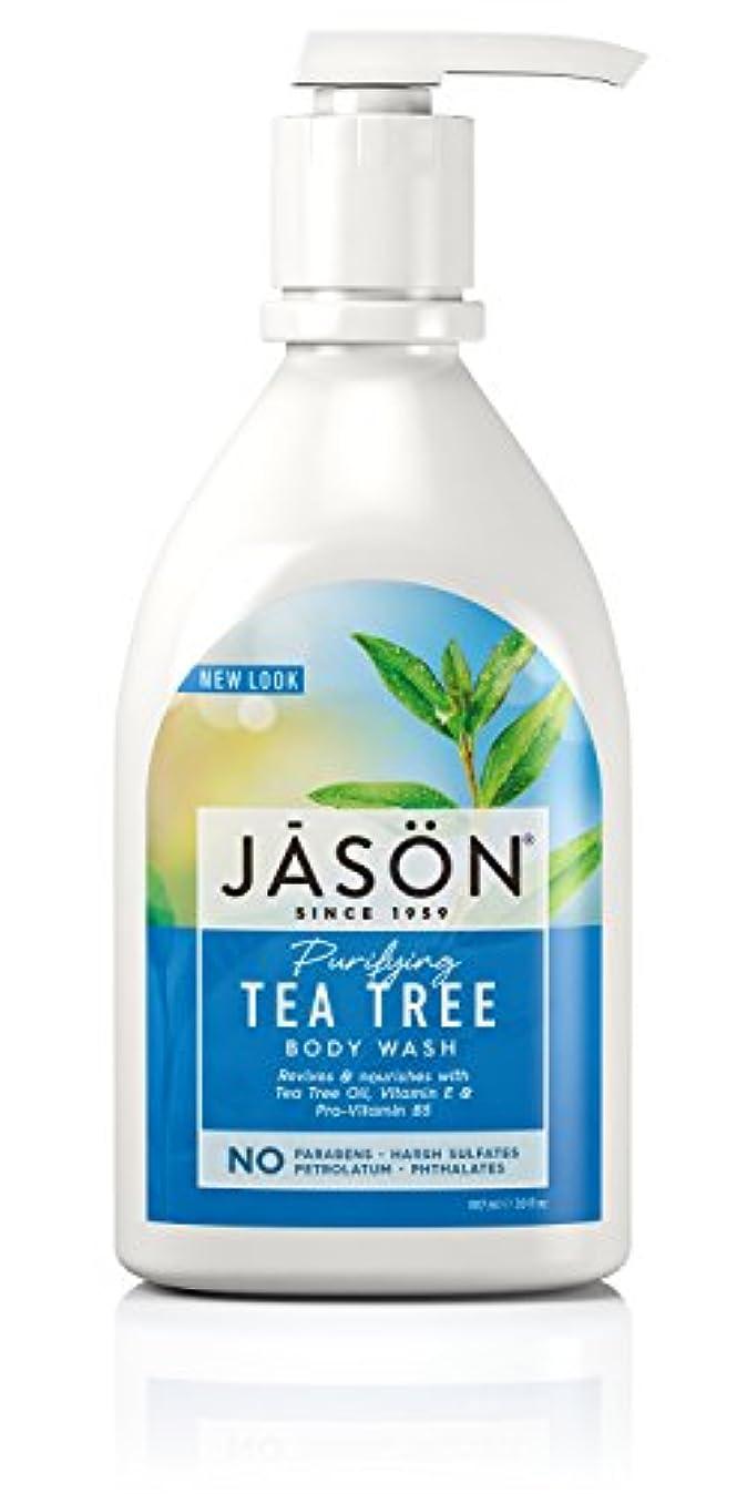 砂密輸マーティフィールディングJason Natural Products Tea Tree Satin Shower Body Wash 887 ml (並行輸入品)