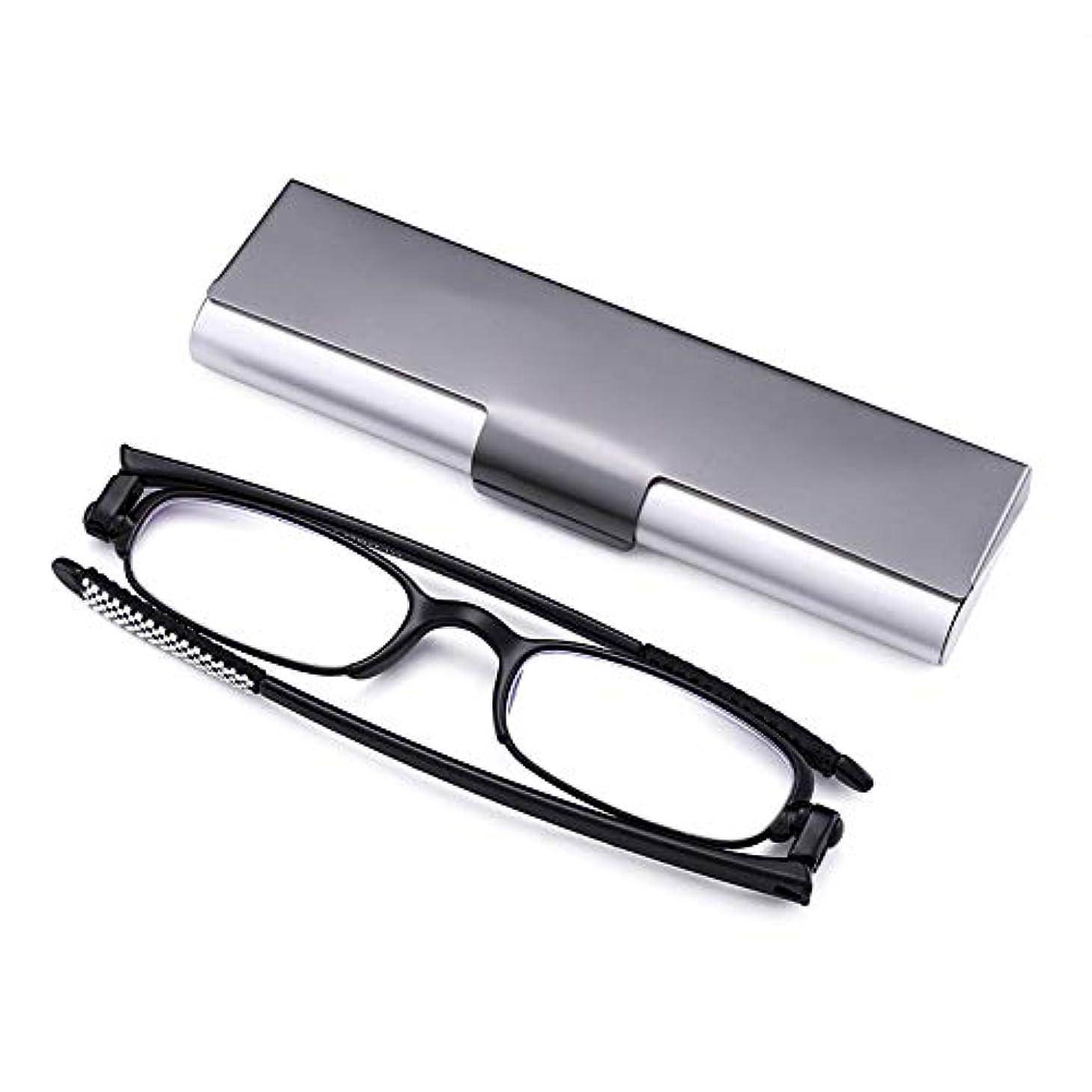 男性と女性のための黒のフルフレーム老眼鏡、 耐擦傷性樹脂レンズ 抗疲労ゴーグル、 回転折りたたみ メガネの足、 TR90ヒンジ付きメガネ、 老眼に適して
