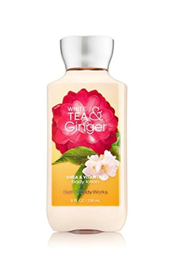 先生高齢者発明するバス&ボディワークス ホワイトティ&ジンジャー ボディローション white tea& ginger body lotion [並行輸入品]