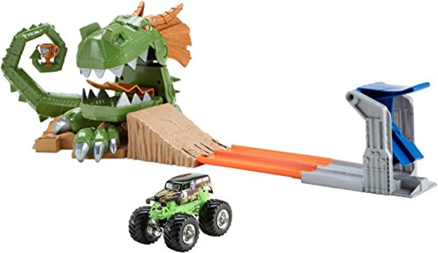 Hot Wheels Monster Jam Dragon Arena Attack Playset [並行輸入品]