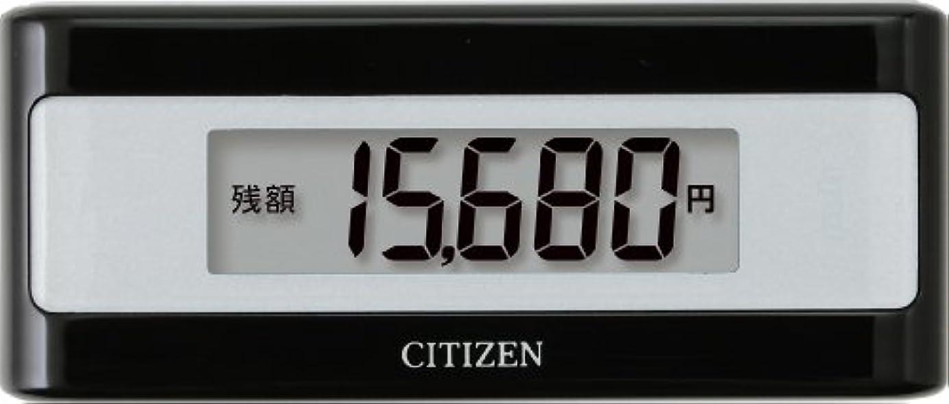 自己老人振る舞いシチズン(CITIZEN) 電子マネービューアー付き歩数計 ブラック TWTC501-BK