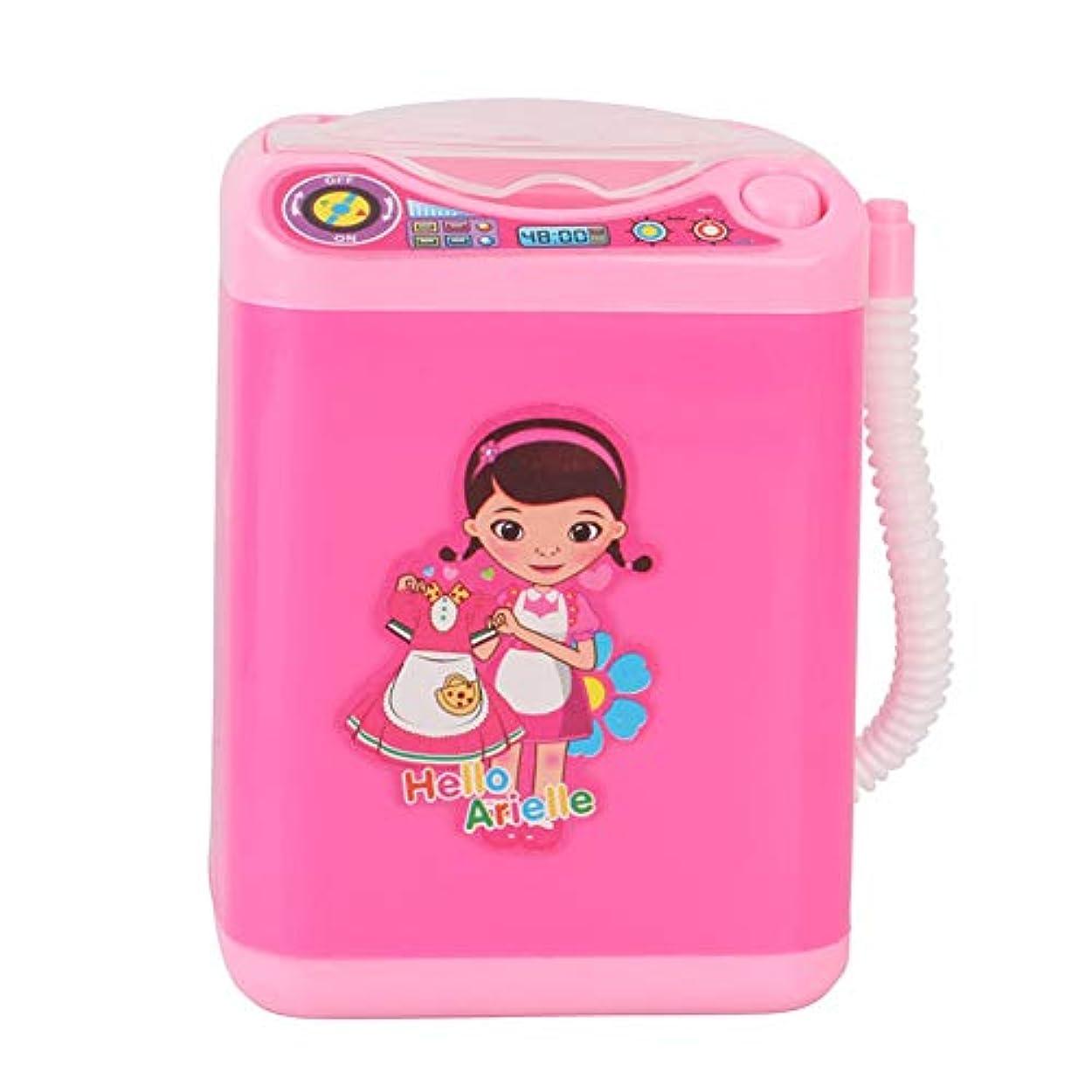不正弁護閉じるArvolno 電動メイクブラシクリーナー 化粧ブラシ洗浄器 スポンジ パフ 自動洗浄 電池式 ミニ洗濯機 携帯便利 旅行 DIY 可愛い ピンク 人気 子供のおもちゃとしても大歓迎