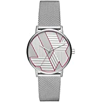 ARMANI EXCHANGE Women's AX5549 Year-Round Analog-Digital Quartz Silver Band Watch