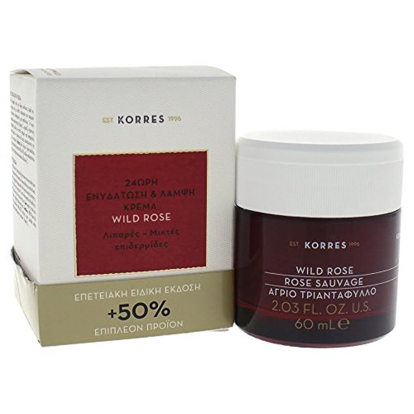 若い子音確かなWild Rose 24-Hour Moisturizing & Brightening Cream Oily - Combination Skin
