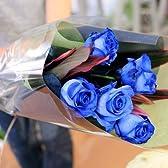 青いバラの花束 45本 ブルーローズ 薔薇 ブーケ