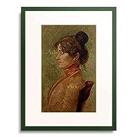 マックス・クリンガー Klinger, Max 「Bildnis Helene Donath. 1902.」 額装アート作品