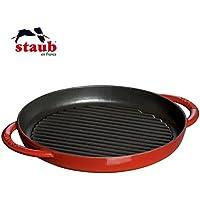 ストウブ ピュアグリル チェリー staub ホーロー鋳物鍋