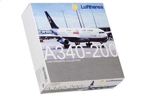 """1:400 ドラゴンモデルズ 55526 エアバス A340 ダイキャスト モデル Lufthansa D-AIBA """"スター Alliance""""【並行輸入品】"""